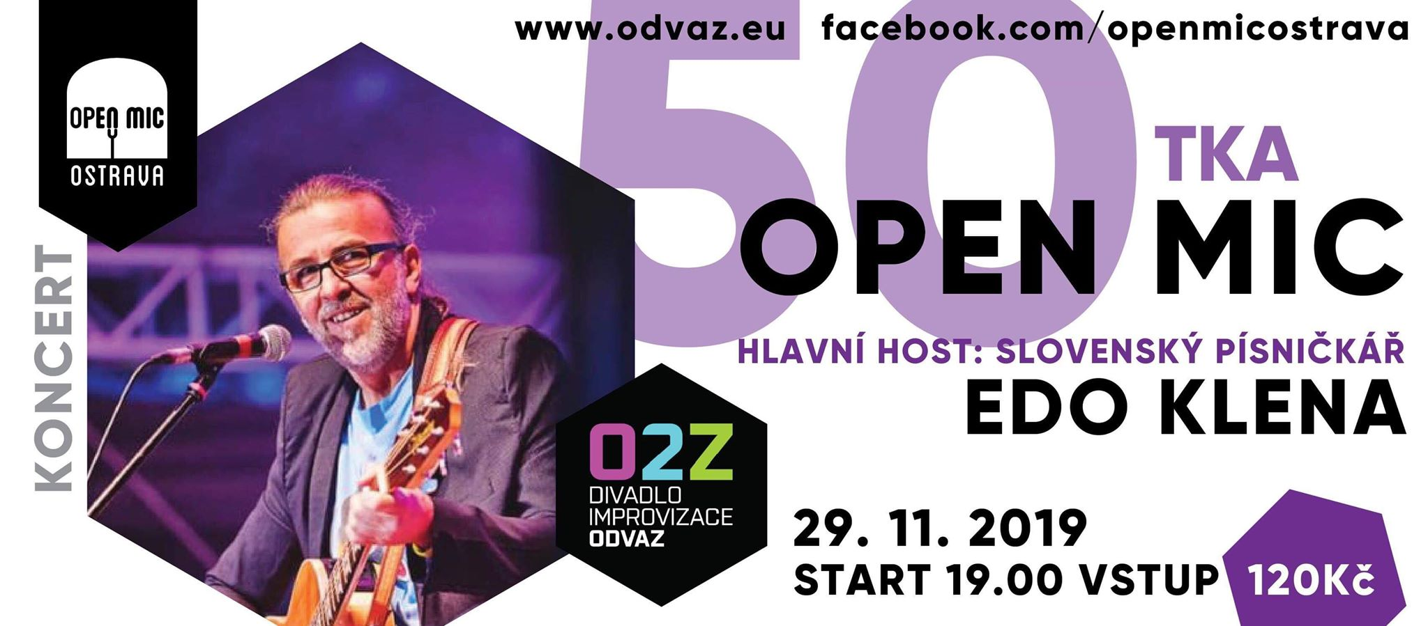 Open Mic Ostrava: PADESÁTKA!